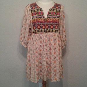Umgee Southwestern tunic dress Medium